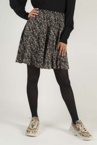 zwarte mini rok met all-over dessin SR520-705