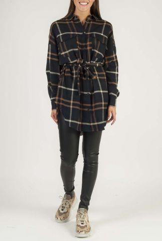 geruite blouse jurk met ceintuur SR520-731