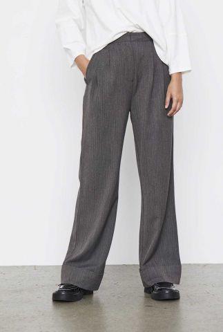 grijze pantalon met ingeweven dessin ada pants SR521-702
