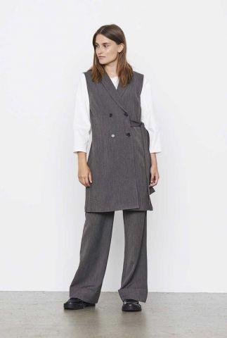 lang grijze gilet met ingeweven dessin ada vest dress SR521-704