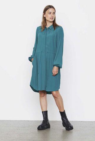 petrol jurk met tunnelkoord anna dress SR521-750