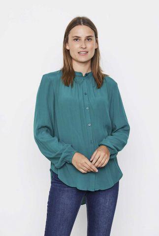 donker groene blouse met knoopsluiting anna shirt SR521-751