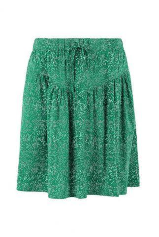 korte groene rok met wit stippen dessin dota skirt SR221-735
