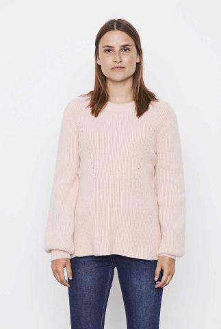 licht roze trui met ajour details jenny ls knit SR521-204