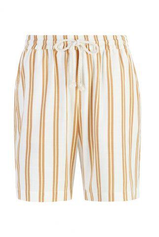 oranje/ geel gestreepte short kiara shorts SR321-704