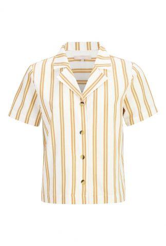 oranje/ geel gestreepte blouse kiara ss shirt SR321-705