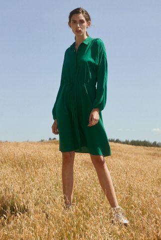 groene blouse jurk met tunnelkoord manna shirt dress SR221-717