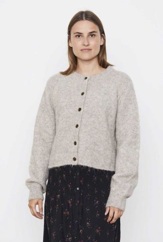 zacht grijs vest van alpaca wolmix stinne cardigan knit SR521-213