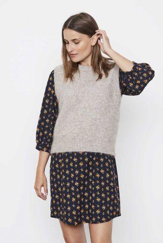 licht grijze spencer van alpaca wolmix stinne knit vest SR521-214