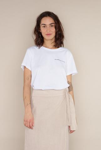 wit t-shirt met logo opdruk club tee 1050103