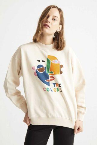 lichte sweater met grafische opdruk the colors wss00087
