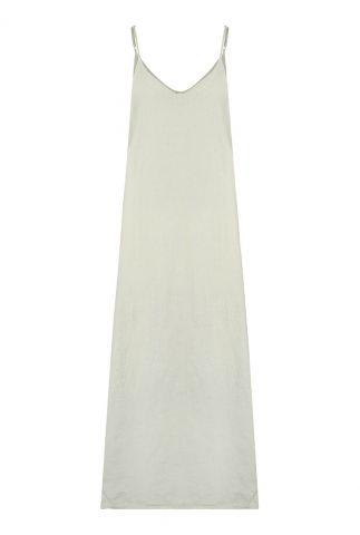 licht groene maxi jurk van linnen sue 3052304