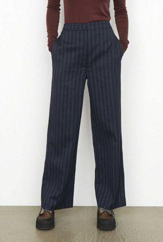 donker blauwe broek met streep dessin susian trousers