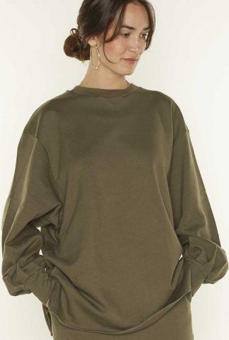 donker groene oversized trui sophia sweat 2053202