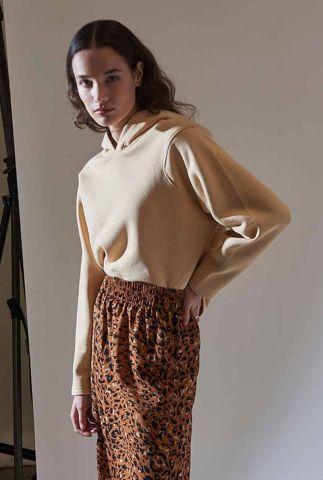 beige oversized sweater met capuchon stein hoody