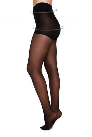 zwarte corrigerende panty 20 denier  control top tights moa