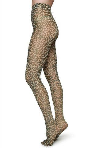 60 denier panty met luipaard print leo tights sofia patern