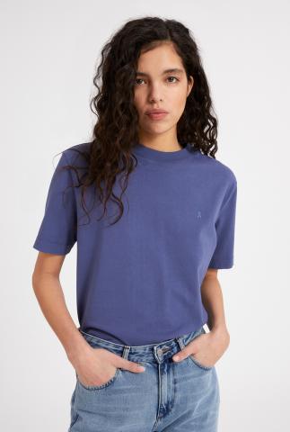 blauw loose fit t-shirt van biologisch katoen taraa 30001160