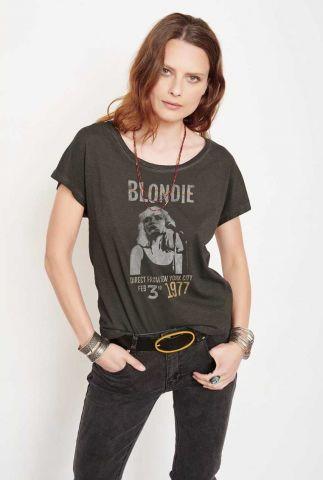 zwart t-shirt met blondie opdruk tibault blondie