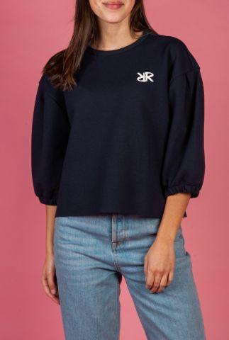 korte sweater met 3/4 mouwen en logo tami