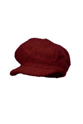 rode fluffy pet  teddy cap red