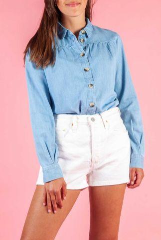 luchtige denim blouse met grote knopen tess shirt 16074652