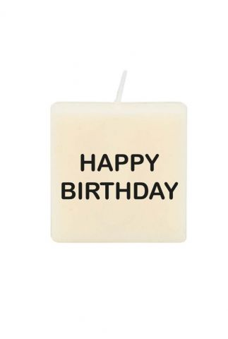 letter en nummer kaars met happy birthday 7040058