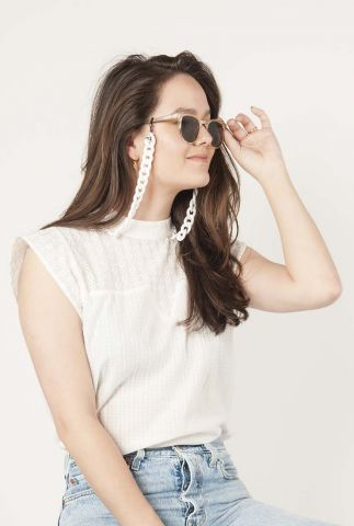 wit brillenkoord met grove schakels brooks kom-j1011
