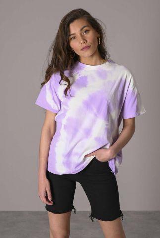 oversized paars met wit tie-dye t-shirt nala tee