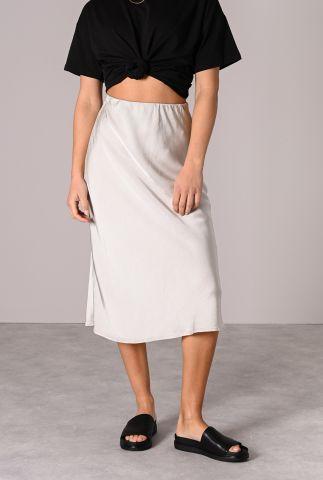 satijnen midi rok met elastische taille zoe satin skirt