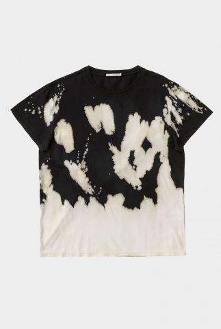 zwart tie-dye t-shirt van biologisch katoen tina special dye 131750