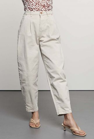 off white balloon broek met high waist tr christy