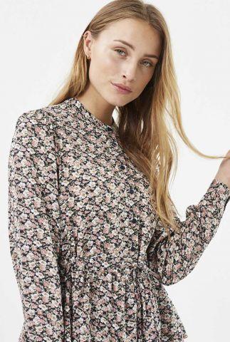 blouse met fijn bloemen dessin en tunnelkoord trinne 1949