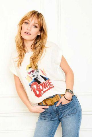 wit t-shirt met david bowie opdruk troy bowie