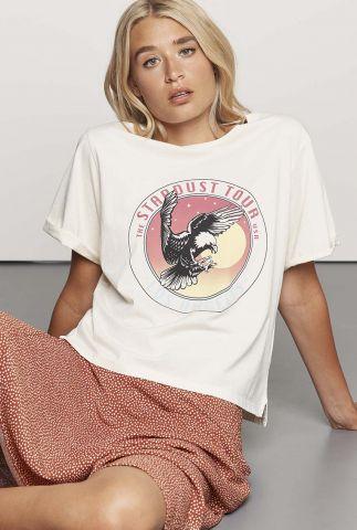 wit t-shirt met grote opdruk ts eagly eye