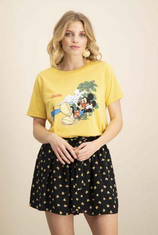 geel t-shirt met mickey mouse opdruk ts mickey florida