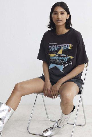 donkergrijs t-shirt met gekleurde opdruk ts thunderhill