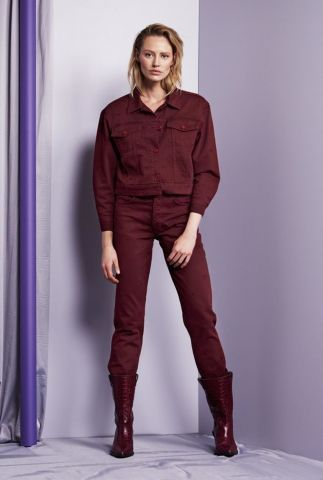 bordeaux rode boyfriend jeans turner