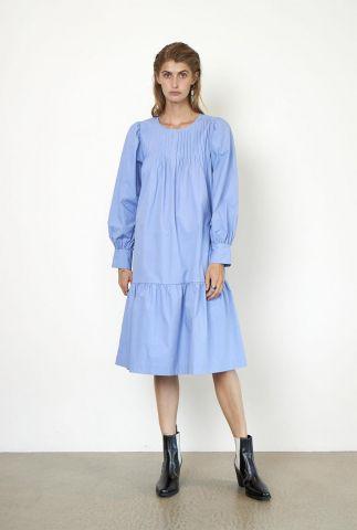 katoenen midi jurk met keyhole detail ula dress