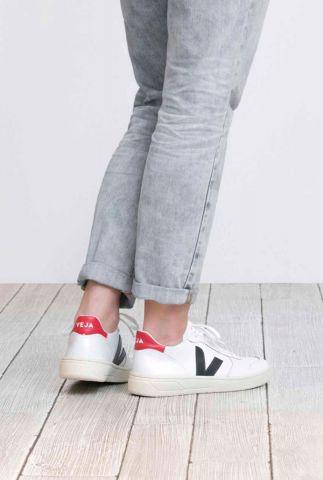 witte duurzame v-10 sneakers nautico pekin vx021267