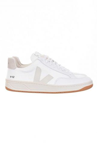 witte sneakers v12 b mesh white natural  xdw011535