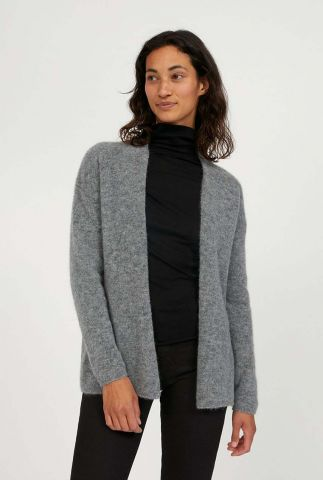 licht grijs vest van een zachte wol en alpacamix vaniaa 30002230