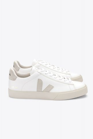 witte sneakers met lichte details campo chromefree cp051945