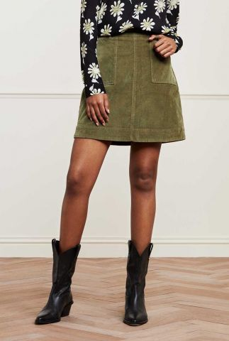 donkergroene a-lijn rok met rib dessin victoria skirt