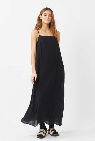 zwarte maxi a-lijn jurk vikilina 6645