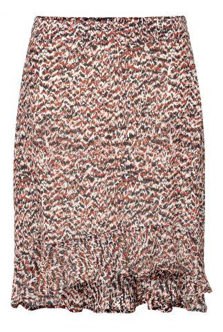 mini rok met gekleurde all-over dessin en volants virginia skirt