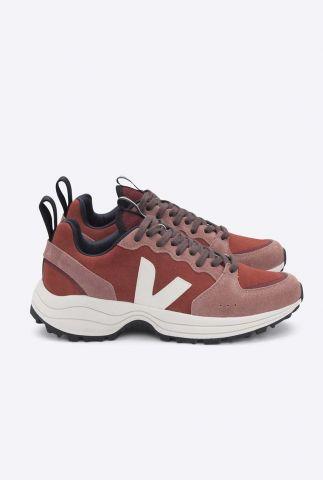 rood met roze suède sneaker venturi suede VT022099