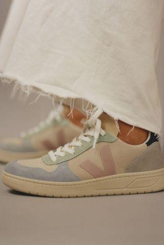sneakers met pastelkleurige details v-10 suede multico vx032495