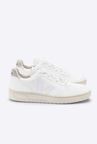 witte sneaker met wit logo v-10 white vegan VX072071