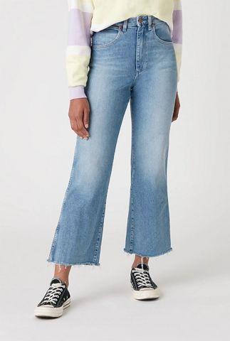cropped denim jeans met flare pijp mom kick flare W206JH28W